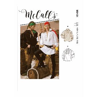 Patron McCall's 8131 Costume chemise Unisex à volants du 36 au 56