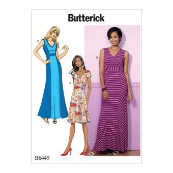 Patron Butterick 6449 Robe femme de 36 à 52