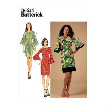Patron Butterick 6624 Robe fourreau femme du 36 au 52