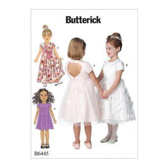 Patron Butterick 6445 Robe fillette de 2 à 8 ans