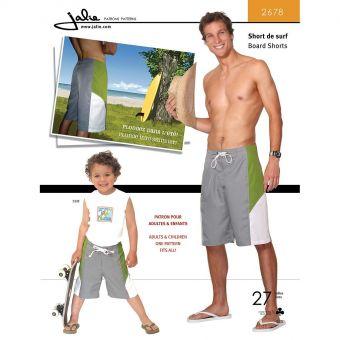 Patron Jalie 2678 Short de surf pour hommes