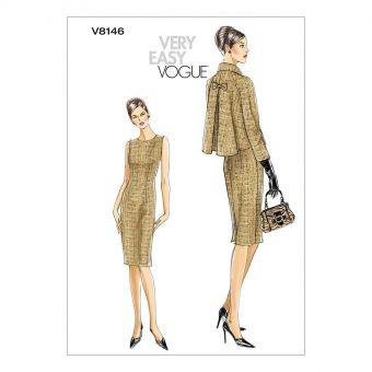 Patron VOGUE 8146 - Ensemble robe et veste style années 70 du 34 au 48