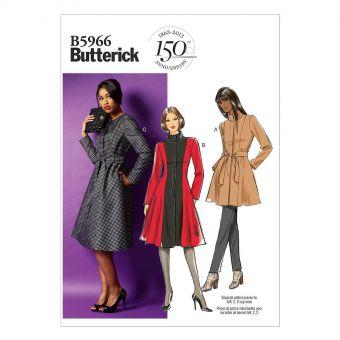 Patron Butterick 5966 Manteau, tailles 36 à 44 et 44 à 52