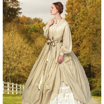 Patron Butterick 5831 Robe et jupon par Nancy Farris - Thee