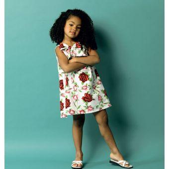 Patron Butterick 5876 Robe fille, très facile, tailles 1 à 4 ans et 3 à 6 ans