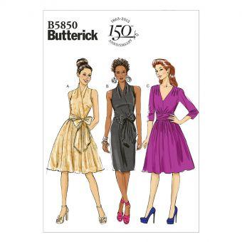 Patron Butterick 5850 Robe, facile, tailles 36 à 44 et 44 à 52