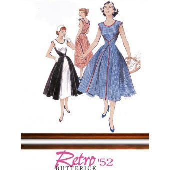 Patron Butterick 4790 Robe portefeuille, vintage de 1952, tailles 36 à 42 et 44 à 50