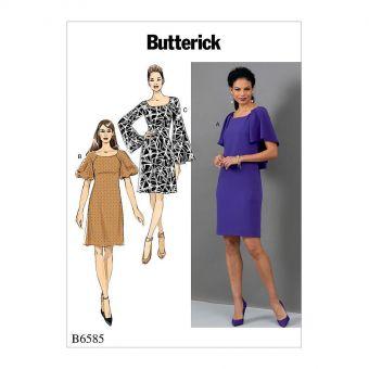 Patron Butterick 6585 Robe dame de 36 à 52