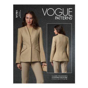 Patron VOGUE 1751 - Veste tailleur Femme sans col du 36 au 52