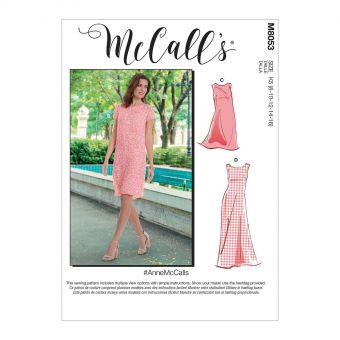 Patron McCALL's 8053 Robe femme trapèze #AnneMcCalls 2 longueurs - de 36 au 52