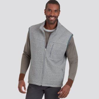 Patron Simplicity 9191 - Blouson Homme et Bodywarmer zippé à col droit du 34 au 52