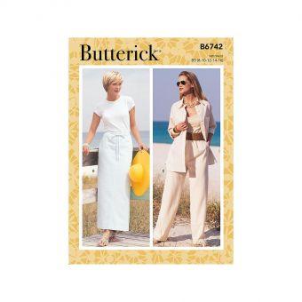 Patron Butterick 6742 Jupes, Shorts, Pantalons taille élastique