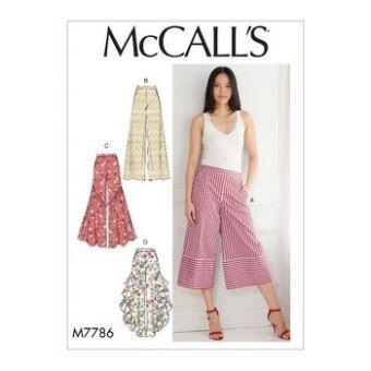 Patron Mc Call's 7786 - Pantalon ample, variations de forme du 34 au 50