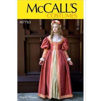 Patron Mc Call's 7763 - Déguisement Robe Renaissance du 34 au 50
