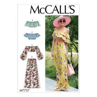 Patron Mc Call's 7757 - Ensemble Haut et pantalon large du 32 au 50