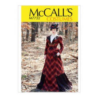 Patron Mc Call's 7732 - Costume d'époque Femme du 32 au 46