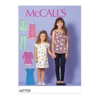 Patron Mc Call's 7709 - Ensemble Fille de 3 à 14 ans