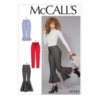 Patron Mc Call's 7690 - Pantalon avec variations d'ourlet du 34 au 50