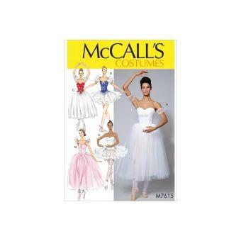 Patron Mc Call's 7615 - Déguisement de ballet Femme du 34 au 50