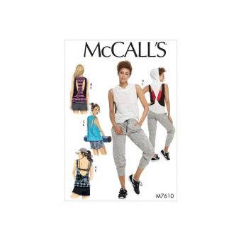 Patron Mc Call's 7610 - Haut, short et pantalon Femme du 32 au 54