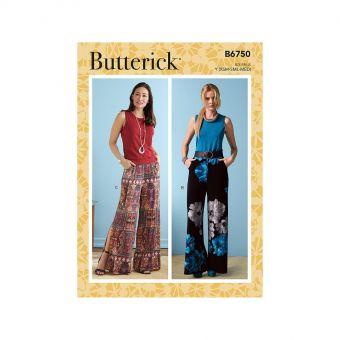 Patron Butterick 6750 Pantalons et Shorts taille élastique