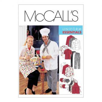 Patron McCall's 2233 Costume de travail homme et femme de S à 2XL