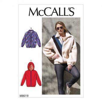 Patron McCALL's 8019 Veste polaire zipée femme à empiècements - de 32 à 54