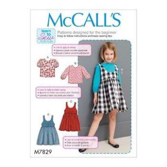 Patron Mc Call's 7829 - Ensemble blouse et robe Fille de 2 à 8 ans