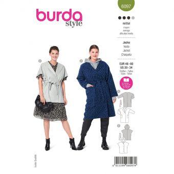 Patron Burda 6097 - Manteau, gilet – oversize du 48 au 62