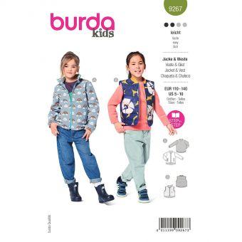 Patron Burda 9267- Veste et gilet Enfant Mixte avec fermeture à glissière du 110 au 140
