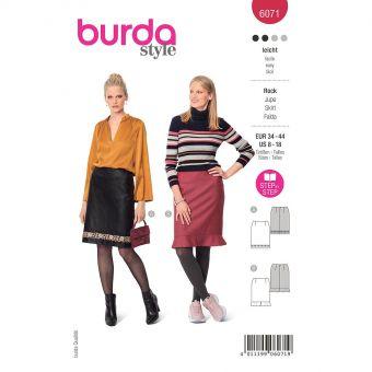 Patron Burda 6071 - Jupe – forme droite et longueur genou du 36 au 46
