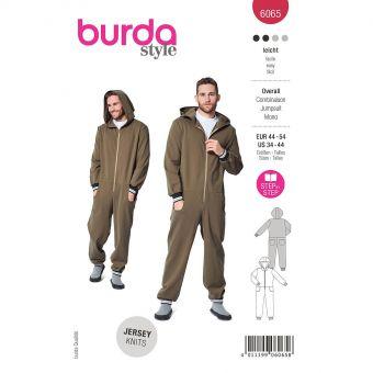 Patron Burda 6065 - Combinaison Homme à capuche du 44 au 56