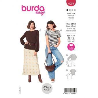 Patron Burda 6059 - Tee-Shirt / blouse Femme du 36 au 46