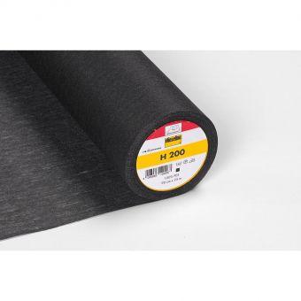 Vlieseline - H 200 - Entoilage léger thermoadhésif - noir - 90cm - vendu au mètre