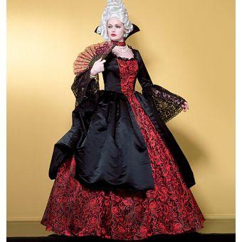 Patron VAULT by McCall's 2058 Costume femme Robe de reine régente col Médicis - de 34 à 48