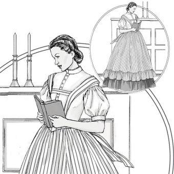 Patron VAULT by McCall's 2057 Déguisement Robe femme XVIIIe siècle FarWest - de 36 à 50