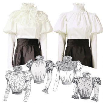 Patron VAULT by McCall's 2024 Blouse et Chemise Victorienne, ceinture - écharpe et col amovible 34 à 50