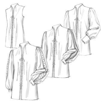 Patron VAULT by McCall's 2027 Chemisier blouse homme médiévale et Renaissance - de 40 à 50