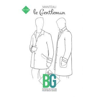 Patron Les Beaux Gosses, Le Gentleman - Manteau homme coupe épurée et raffinée du XS au XXL