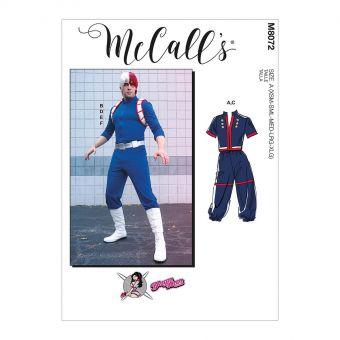 Patron McCall's 8072 Déguisements style Manga UNISEXE du 32 à 50