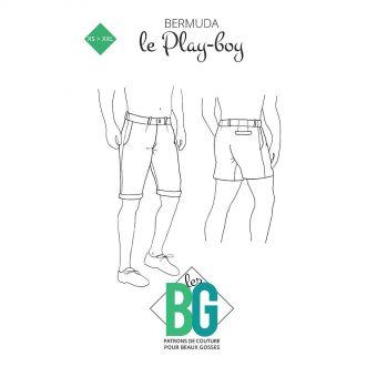 Patron Les Beaux Gosses, Le Play - boy - Bermuda homme coupe simple et contemporaine du XS au XXL