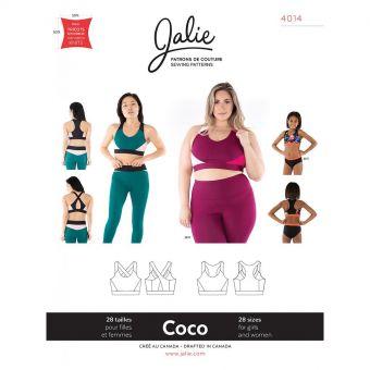Patron Jalie 4014 COCO - Soutien - gorge sport - Femme et Fille