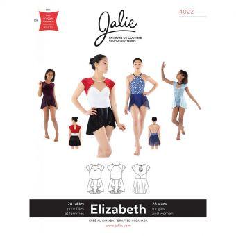 Patron Jalie 4022 ELIZABETH - Robe à jupe cascade pour le sport - Femme, fille, grandes tailles