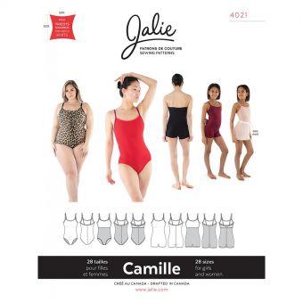 Patron Jalie 4021 CAMILLE - Justaucorps et unitard à bretelles fines - Femme, fille, grandes tailles