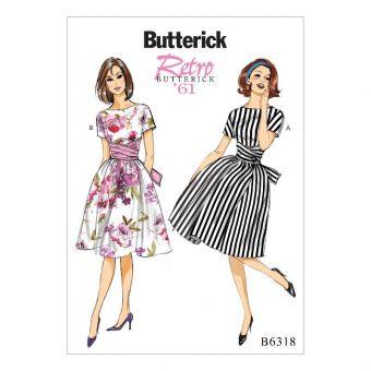 Patron Butterick 6318 Robe vintage dames de 34 à 50