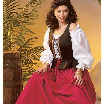 Patron VAULT by McCall's 2055 Déguisement femme Péplum ou Pirate - du 34 au 48