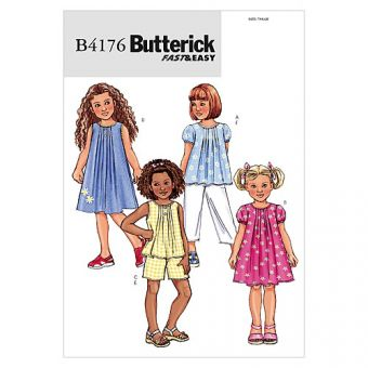 Patron Butterick 4176 Ensemble fille