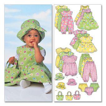Patron Butterick 5624 Ensemble de bébé, stature 46 à 71 cm ou 74 à 81 cm