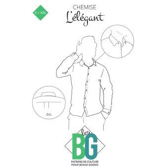 Patron Les Beaux Gosses, L'ÉLÉGANT - chemise pour homme