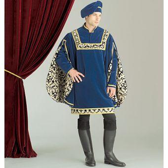 Patron VAULT by McCall's 2007 Costume Tunique & Chapeaux Renaissance homme de 38 à 60